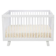 Babyletto Hudson 3-in-1 Convertible Crib with Toddler Rail - White