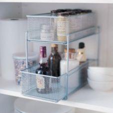 "Design Ideas 351289 7.5"" x 13.8"" Silver Mesh Cabinet Basket $21.99"