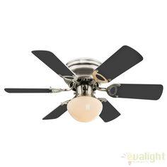 Lustra Ventilator cu palete ventilatie in doua culori Ugo 0307 GL - Corpuri de iluminat, lustre, aplice