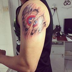 Tattoo Captain America Captain America Tattoo, Star Wars Tattoo, Tattoo Designs, Tattoo Ideas, New Tattoos, Watercolor Tattoo, Cute Outfits, Fine Art, Starwars