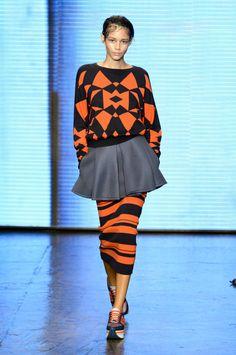 Défilé DKNY, prêt-à-porter printemps-été 2015, New York. #NYFW #Fashionweek #runway