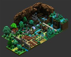 Voxel Art by Sir Carma Pixel in 3D, « Voxel » is a visual element that gives…