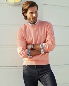 Men's casual style. Brooks Brothers Spring 2014. Tommy Dunn