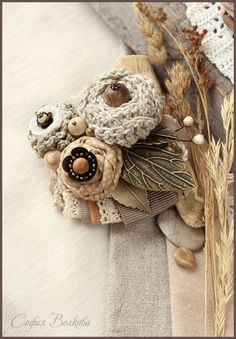 """Броши ручной работы. Ярмарка Мастеров - ручная работа Брошь """"Цветы ветра"""". Handmade."""