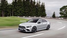 All-New Mercedes-Benz A-Class Sedan Unveiled in the US - News Mercedes Sedan, New Mercedes, Classe A Amg, Mercedes Benz Modelos, Power To Weight Ratio, Benz A Class, Kelley Blue, Limousine, Blue Books