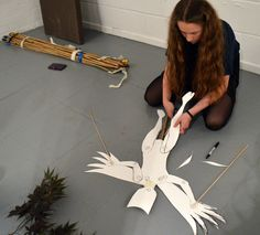 The 'animal fairy'. Teenagers at AccessArt's Experimental Drawing Class improvise a shadow puppet play at www.accessart.org.uk