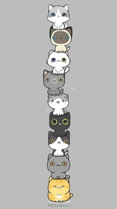 Discover recipes, home ideas, style inspiration and other ideas to try. Cute Cat Wallpaper, Cute Pokemon Wallpaper, Funny Phone Wallpaper, Cute Disney Wallpaper, Cute Cartoon Wallpapers, Kawaii Wallpaper, Cute Kawaii Drawings, Cute Cat Drawing, Cute Animal Drawings