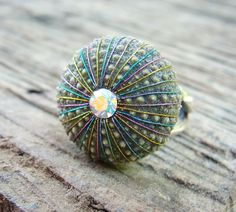 ✯ Sea Urchin Ring Sterling Silver Multicolor Jewelry.. Etsy Staroftheeast✯
