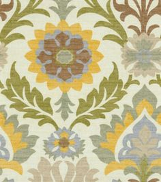 Create lovely fabric-based projects with this Home Decor Fabric. Flowing graceful floral design with charming colors. This fabric will easily complement any design theme you have at home. Content: 100