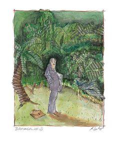 Dschungelheld ~ Rosemarie Zacher Mischtechnik/Papier