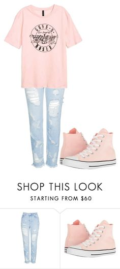 """Untitled #413"" by thenerdyfairy on Polyvore featuring Topshop and Converse"