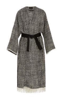 Iban Frayed Wrap Coat by ISABEL MARANT Now Available on Moda Operandi