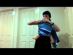 How to rebozo with a short wrap (size 2 or 3) or half a woven tablecloth - YouTube