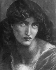 Dante Gabriel Rossetti, Study of Jane Morris for 'The Salutation of Beatrice', c. 1880(?)