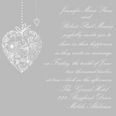 Wedding Invitation Set - Lace Heart. $25,00, via Etsy.