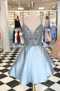 Spaghetti Straps Homecoming Dresses,Beaded Homecoming Dresses,Backless Homecoming Dresses,Short Prom Dresses,Party Dresses from prom dress Short Graduation Dresses, Backless Homecoming Dresses, Grey Prom Dress, A Line Prom Dresses, Cheap Prom Dresses, Dance Dresses, Evening Dresses, Formal Dresses, Party Dresses
