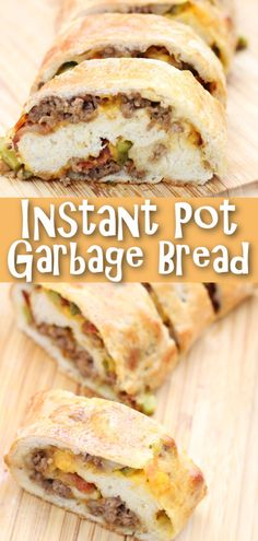 If you have a yogurt button on your Instant Pot you can proof the dough quickly in your Instant Pot. This garbage bread is a great dinner or game day food! Garbage Bread, Bbq Pork Sandwiches, Make Ahead Lunches, One Pot Pasta, Game Day Food, Food Crafts, Food Reviews, Breakfast Casserole, One Pot Meals