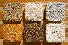 Custom Suet CakesWinter Bird Lover Gift Variety by NaturesKitchen. Bird feeding?
