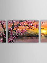 Oil Painting Floral Plum Flowers Set of 3 with ... – GBP £ 58.39