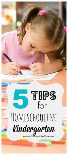 5 Tips for Homeschooling a Kindergartener - These are fantastic advice for anyone just starting to homeschool!