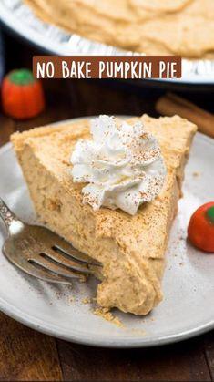 Pumpkin Cream Pie, Pumpkin Pie Cheesecake, No Bake Pumpkin Pie, Easy Pumpkin Pie, Homemade Pumpkin Pie, Pumpkin Pie Recipes, Baked Pumpkin, Pumpkin Dessert, Pumpkin Pumpkin