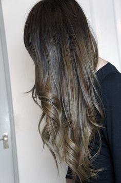Ash/Brown Ombre Hair