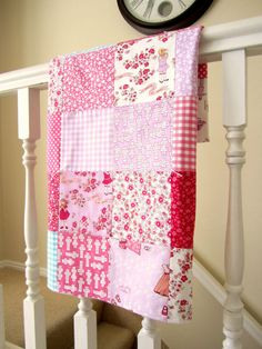 Children at Play Patchwork Baby Blanket  Playhouse and by liltulip, $48.00