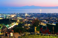 As wonderful  a view as it gets!Thessaloniki at night
