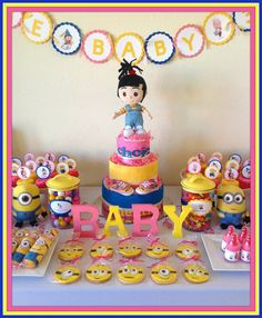Despicable Me Baby Shower #babyshower #despicableme - Why didn't I think of this?! Oh well now I have a first birthday party idea!!