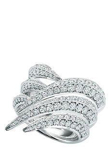 SHAUN LEANE Sabre 18ct white-gold and diamond ring