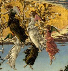 Sandro Botticelli, (1445–1510): Detalle Natividad.