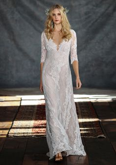 dresses, Boho Wedding Dresses Patchouli With Very Elegant And Detail Simple Lace Design - Remarkable Boho Wedding Dresses With Romantic Bohemian Bride