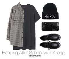 Hanging After School with Yoongi by btsoutfits on Polyvore featuring polyvore fashion style Chicnova Fashion Monki clothing