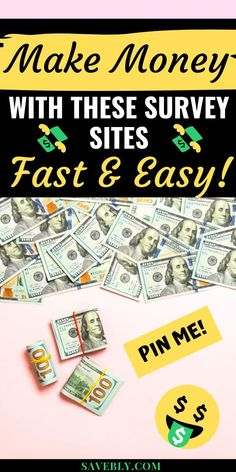 Make money fast with these awesome survey sites. Learn to make money from home now! Online Surveys For Money, Surveys For Cash, Make Money Online, Make Money Now, Make Money Blogging, Make Money From Home, Saving Money, Extra Money, Extra Cash