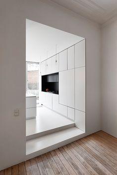 Home Interior White .Home Interior White Minimal Kitchen, Modern Kitchen Design, Interior Design Kitchen, Minimalistic Kitchen, Home Interior, Interior Architecture, Interior Plants, Küchen Design, House Design