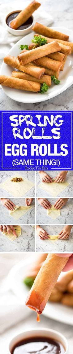 Spring Roll 2019 Youve never really had a Spring Roll until youve tried homemade ones. With the quick video tutorial youll master it in no time!recipetineats The post Spring Roll 2019 appeared first on Rolls Diy. Recipetin Eats, Recipe Tin, Asian Cooking, Egg Rolls, Spring Rolls, Appetisers, Pasta, Asian Recipes, Asian Foods