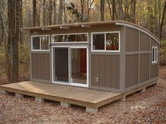 Pricing and Design Info for 6 Prefab Cabin & Cottage Firms - Prefabricated House Tiny House Kits, Tiny House Blog, Tiny House Living, Prefab Cottages, Cabins And Cottages, Prefab Homes, Log Cabins, Small Prefab Cabins, Cabin Design