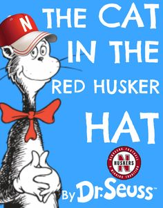 Cat N the Red Husker Hat