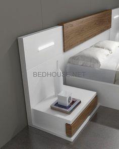 Bedroom bed design - Best Nightstand Ideas for Small Spaces Bedroom Bed Design, Bedroom Furniture Design, Bed Furniture, Bedroom Decor, Furniture Makers, Bedroom Cupboard Designs, Bedroom Cupboards, Bedroom Arrangement, Bedroom Night Stands