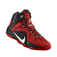 I designed the university red Nike LeBron 12 iD men's basketball shoe with black and white trim to support the Georgia Bulldogs.