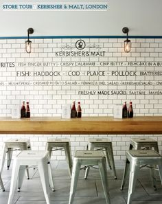 Kerbersher & Malt, London. c/o Bright.Bazaar. I just bought stools now I wish I bought these!