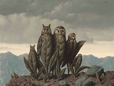 René Magritte, the companions of fear (the companions of fear), oil on canvas, 1942