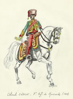 Colonel Colbert CO o the 7th Hussar Rgt -
