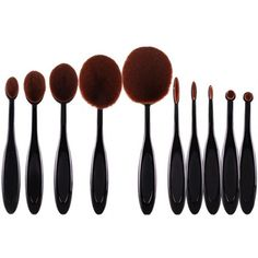 22.28$  Buy now - http://di844.justgood.pw/go.php?t=184287101 - Cosmetic 10 Pcs Multifunction ToothBrush Shape Fiber Facial Eye Makeup Brushes Set