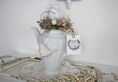 Ostertischdeko - Kaffeekanne***Osterdeko***Shabby Chic* - ein Designerstück von ifb bei DaWanda