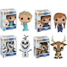 Funko Disney Frozen Pop! Vinyl Set, Anna, Elsa, Olaf and Sven - Walmart.com