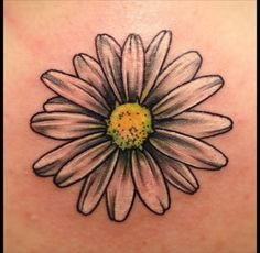 What does daisy tattoo mean? We have daisy tattoo ideas, designs, symbolism and we explain the meaning behind the tattoo. Cover Up Tattoos, Leg Tattoos, Black Tattoos, Body Art Tattoos, Small Tattoos, Sleeve Tattoos, Cool Tattoos, Petite Tattoos, Bird Tattoos