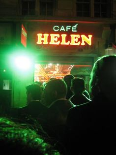 """Cafe Helen, Edgware Road    = This place opens """"all night"""" - but not the daytime. For around £4.50 you can get one of the best culinary experiences of your life in schwarma kebab form, and at 3am too. (Click through for details)"""
