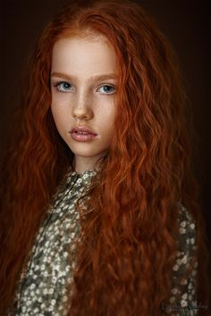 Albina - Nikolay Lobikov (love this hair color! My Dad's was the same color. Wonder if I could pull it off.)