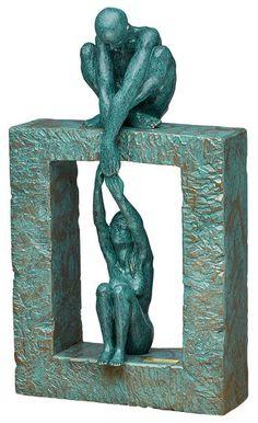 "Angeles Anglada: Skulptur ""Connection"", Kunstguss …"